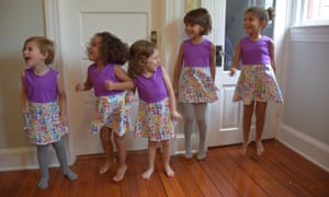 Girls modelling Princess Awesome dresses featuring the mathematical symbol pi