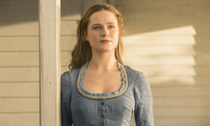 Evan Rachel Wood as Dolores in Westworld.