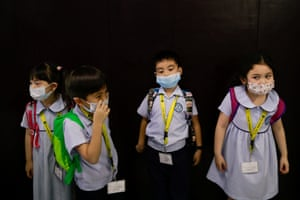 Quezon City, Philippines Students wear masks at a Chinese school in Quezon City, amid the health scare over the coronavirus that has infected thousands since emerging in China