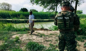 The Rio Grande bank where the bodies of Salvadoran migrant Oscar Alberto Martínez Ramírez and his daughter Valeria were found.