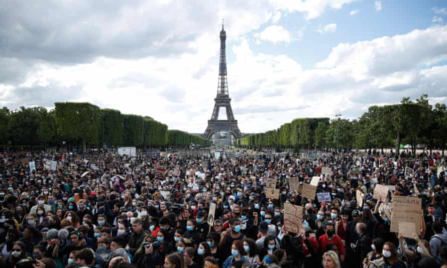 An anti-racism rally in Paris earlier this year.