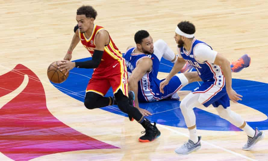 Top-seeded Philadelphia 76ers on brink after stunning collapse against  Hawks | NBA | The Guardian