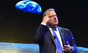 Al Gore gives a climate change lecture in Manila. 'There is an overwhelming amount of hope that the Paris climate agreement could be a turning point...'' he said.