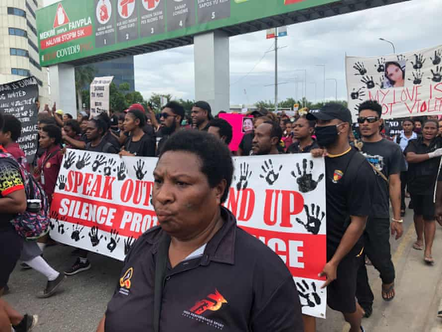A protest calling for an end to domestic violence was held in Port Moresby in PNG following the murder of 19 year old Jenelyn Kennedy.