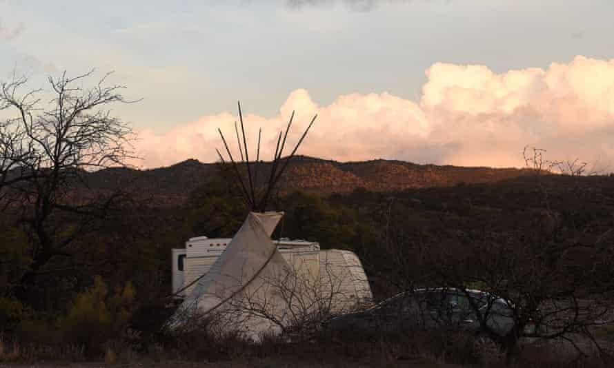 The Oak Flat campground outside of Globe, Arizona.
