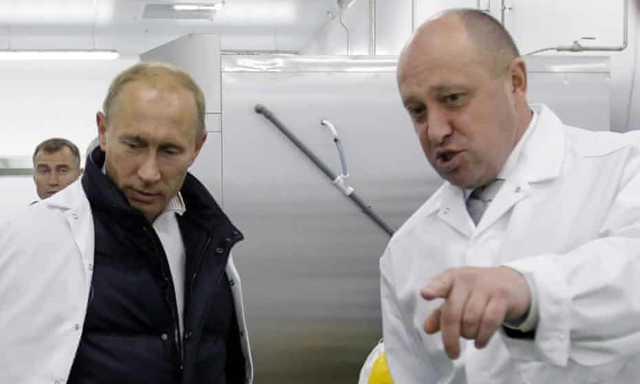 Vladimir Putin and Yevgeny Prigozhin in 2010