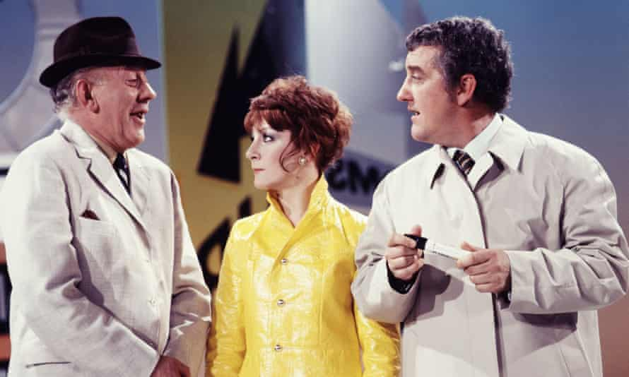 Sheila Steafel, centre, with Bob Todd and and Bernard Cribbins, right, on The Val Doonican Show, 1971.