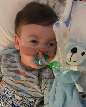 Alfie Evans, who is receiving treatment at Alder Hey hospital in Liverpool
