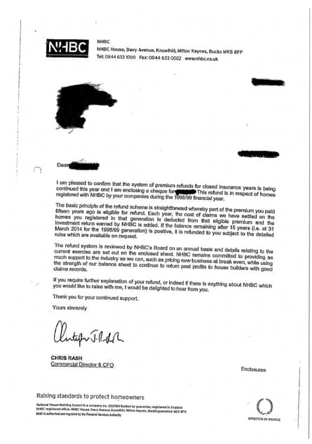 NHBC letter
