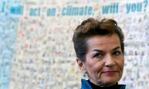 UN climate chief, Christiana Figueres: 'We are going to get an agreement [in Paris], because there is enough political will.'