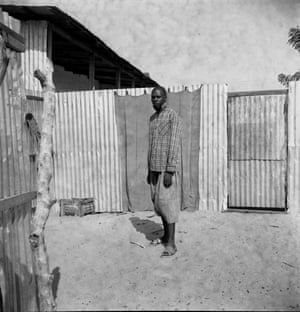 Man standing in a courtyard in senegal