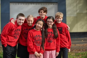 Battie (Olsin O'Leary), Tamara (Olivia Deebie), Melanie (Madison Lu), Atticus (Joshua Sitch), Debra-Jo (Faith Seci) and Rory (Flynn Curry): the child stars of Little Lunch