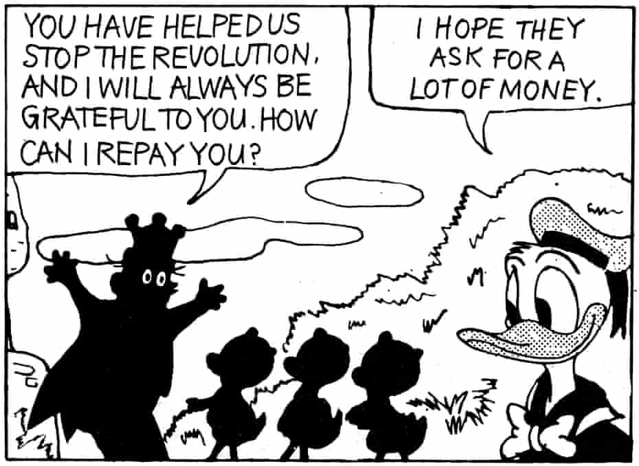 Ideological messages … a strip from How to Read Donald Duck.