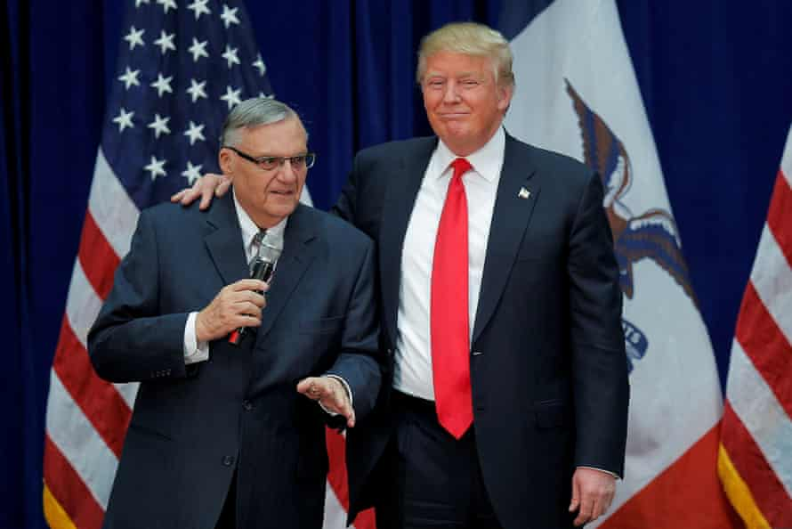 Joe Arpaio has been pardoned by Donald Trump's first president.