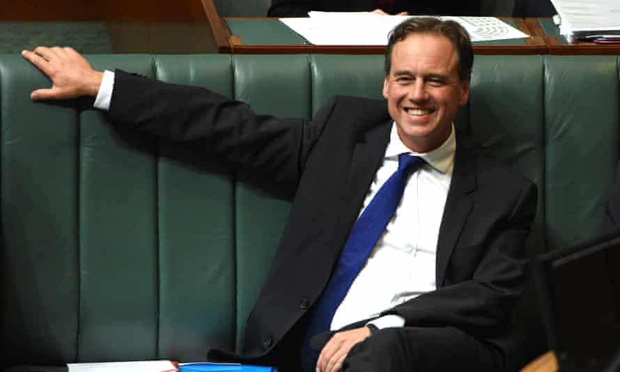 Greg Hunt at question time