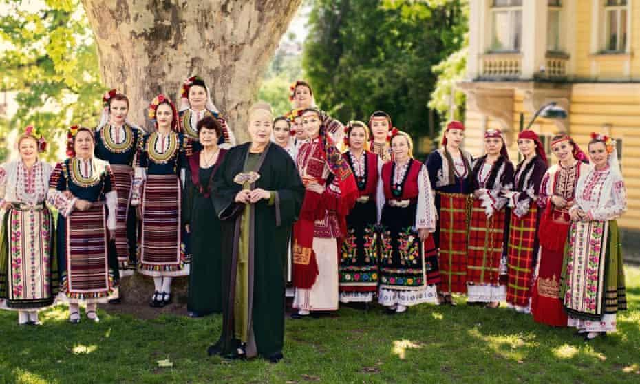 Le Mystere des Voix Bulgares, with Lisa Gerrard, front.