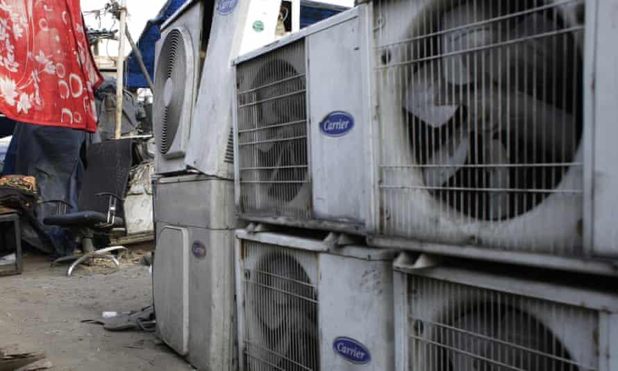 An air conditioner shop in Delhi, India