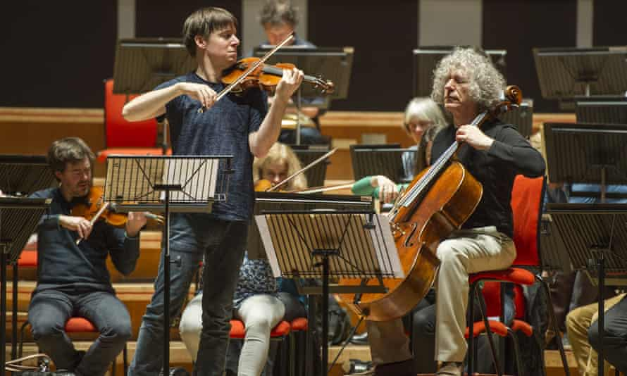 Musical conversation following its own logic: Joshua Bell, left, Steven Isserlis and the Academy Of St Martin In The Fields.