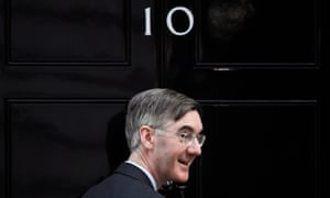 Jacob Rees-Mogg outside No 10 Downing St