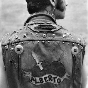 Self-portrait in biker vest, 1989