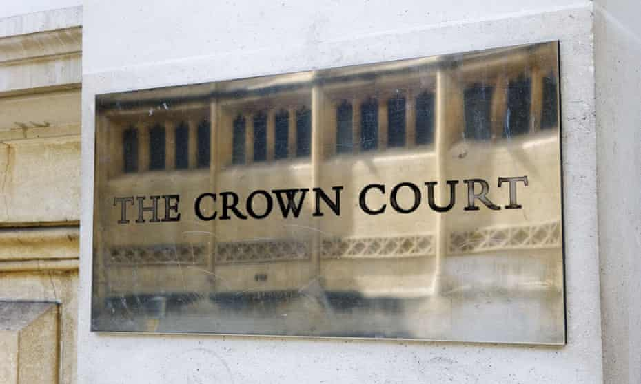 Sign on the outside of Bristol crown court