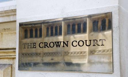 Sign on Bristol crown court.