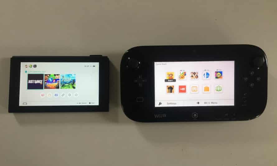 Nintendo Switch compared with GamePad