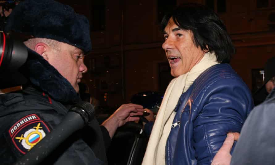 French pop star Didier Marouani is detained in Moscow.