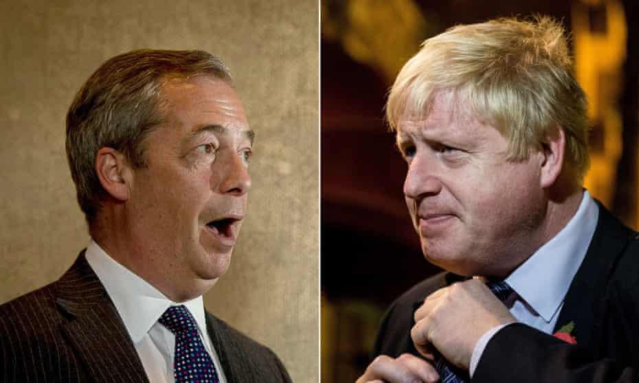 Demagogues: Nigel Farage and Boris Johnson.