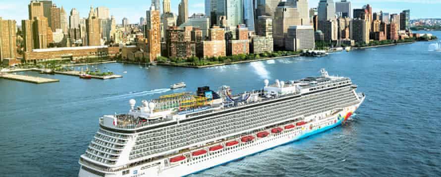 Norwegian Breakaway sailing out of New York