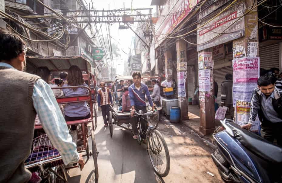 Rickshaws in Old Delhi