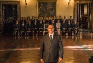 Toni Servillo as Silvio Berlusconi in Lori.