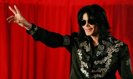 Michael Jackson two months before his death, addressing a press conference at the O2 arena in London in 2009.
