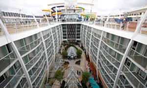 One of the open spaces on the Harmony of the Seas.