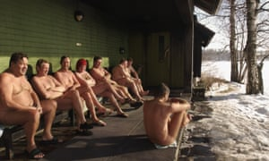 men sitting in icy surroundings