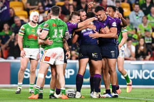 Melbourne Storm and Canberra Raiders.