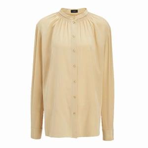 crew neck cream silk blouse, Joseph