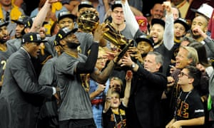 LeBron James and the Cleveland Cavaliers celebrate their NBA title after victory over the Golden State Warriors