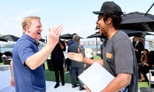 Roger Goodell and Jay-Z in New York City on 14 August 2019.