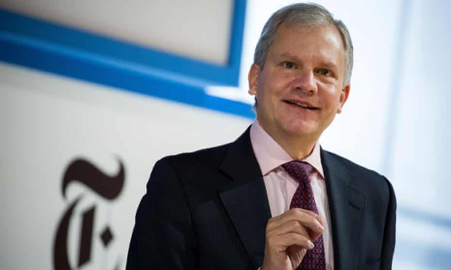 Arthur Sulzberger Jr speaks in New York in 2016.