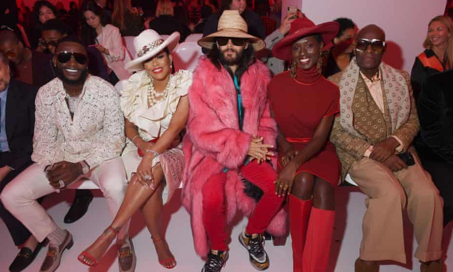Dapper Dan with Gucci Mane, Keyshia Ka'oir, Jared Leto and Jodie Turner-Smith