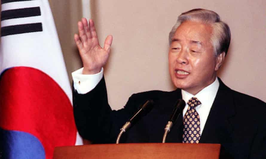 Kim Young-sam as president of South Korea in 1996