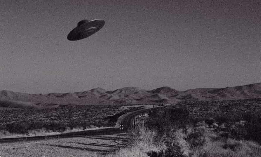 A UFO over the Mojave desert, California.