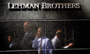 Former Lehman Brothers staff leave its New York HQ