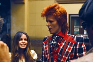 David Bowie with Fan in 1973 in Los Angeles