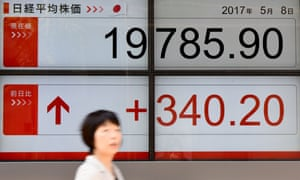 The Nikkei index in Japan rose 2% in the wake of Macron's victory.