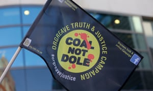A banner for the Orgreave Truth and Justice Campaign.