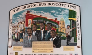A plaque commemorating the Bristol bus boycott of 1963, in Bristol bus station