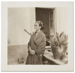 Frida, photographed while she was pregnant, at the Casa Azul
