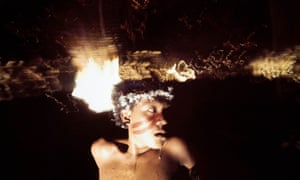 Shamanistic ritual … a young man under the influence of the hallucinogen yãkoana.
